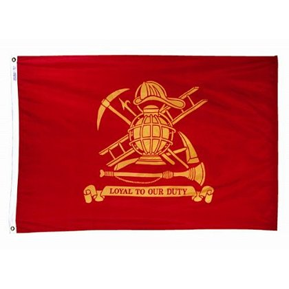 Annin Flagmakers Nyl-Glo Red and Gold Firefighters Flag