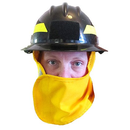 Coaxsher CX Wildland Helmet Shroud, Yellow