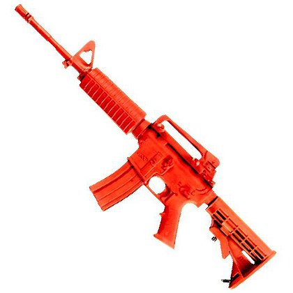 ASP: Red Training Gun Government Carbine, Collapsed Stock/Sliding Stock