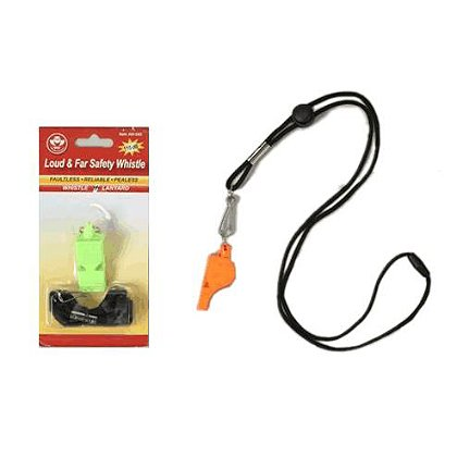2W International: Loud & Far Hi Visibility Safety Whistle