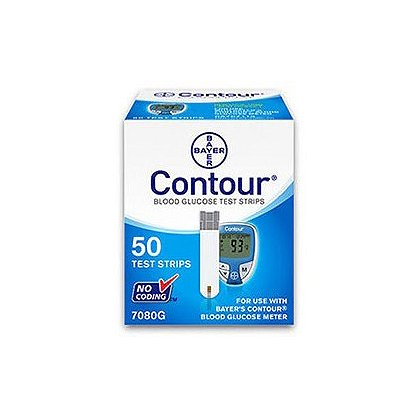 Bayer Contour Glucose Test Strips 50 Strips/Bottle