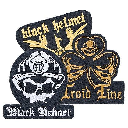 Black Helmet Apparel: Patch Series, Iron or Sew-On
