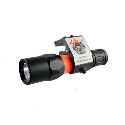 Blackjack BJ005 Helmet-Mount Flashlight Holder (Easy On/Off Model)