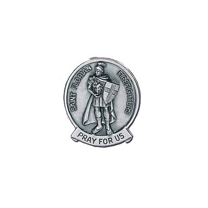 Blackinton: St. Florian Visor Clip Medallion, Pewter