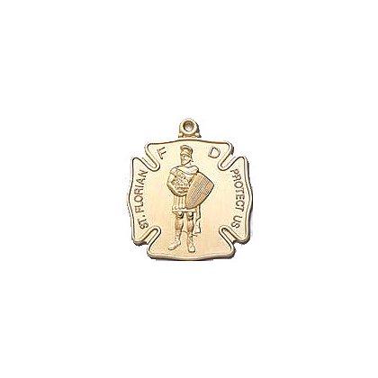 Blackinton St. Florian Medal, 24k Gold Vermeil (Gold Plate over Sterling)