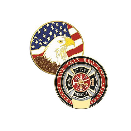 Blackinton Thin Red Line Fire-Rescue Challenge Coin
