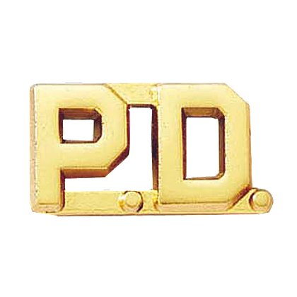 Blackinton P.D. Letter Pin