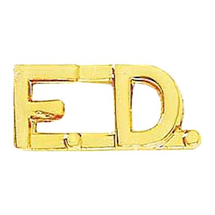 Blackinton: F.D. Rounded Letter Combination Pin