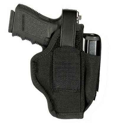 BLACKHAWK: Ambidextrous Holster with Mag Pouch, Black