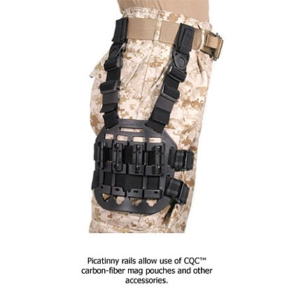 Blackhawk CQC Tactical Modular Drop Leg Platform, Tactical Matte Finish