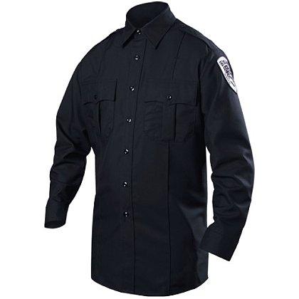 Blauer Long Sleeve Cotton Blend Shirt, Navy