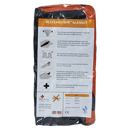 PerSys Medical Blizzard SPR Blanket, Orange