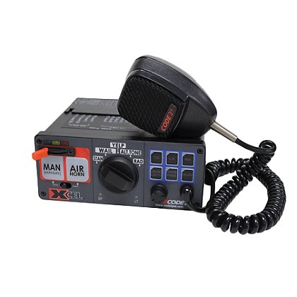 Code 3: XCEL Siren, 12V, w/ Light Control and Hard-Wired Mic