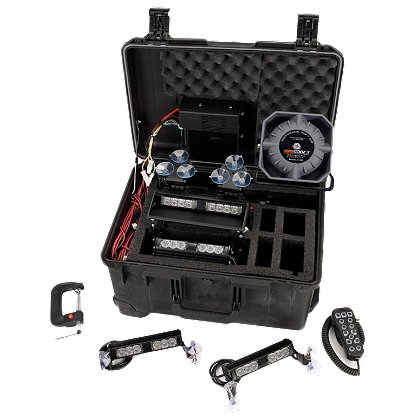 Code 3 Portable Self-Contained Light & Siren Kit
