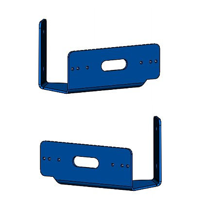 Code 3: Pair of Push Bumper Brackets