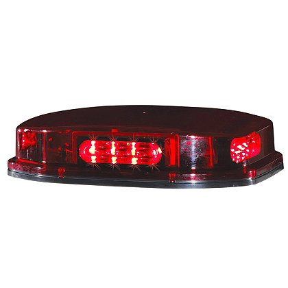 Code 3 Quadrant Mini Bar LED, Red, Blue, Amber, Magnetic/Suction Cup Mount