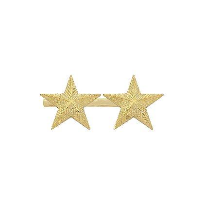 Smith & Warren Two Textured Collar Stars on Bar, 1.94
