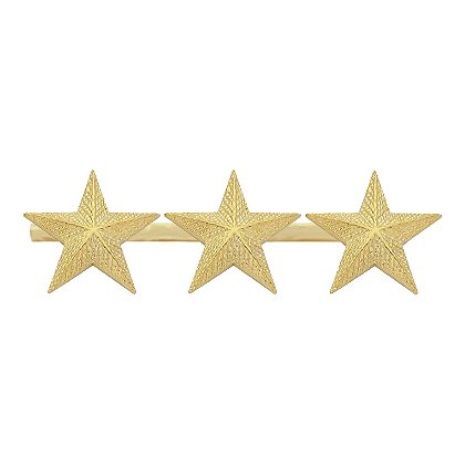Smith & Warren Three Textured Collar Stars on Bar, 2.91