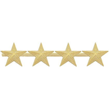 Smith & Warren Four Textured Collar Stars on Bar, 3.88