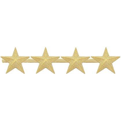 Smith & Warren: Four Textured Collar Stars on Bar, 3.88