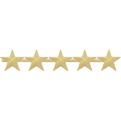 Smith & Warren: Five Textured Collar Stars on Bar, 4.85