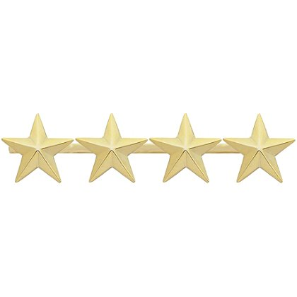 Smith & Warren: Four Collar Stars on Bar, 3.76