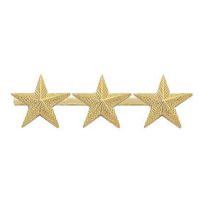 Smith & Warren: Three Textured Collar Stars on Bar, 2.64