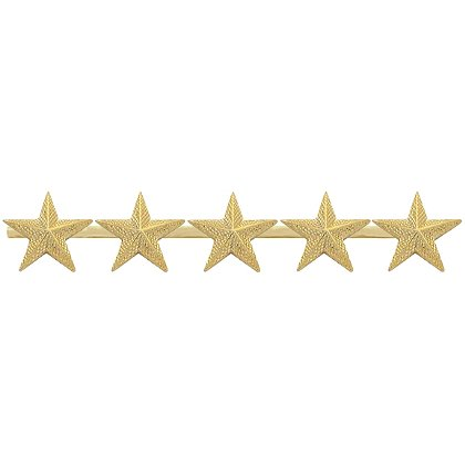 Smith & Warren Five Textured Collar Stars on Bar, 4.4