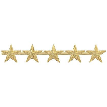 Smith & Warren: Five Textured Collar Stars on Bar, 4.4