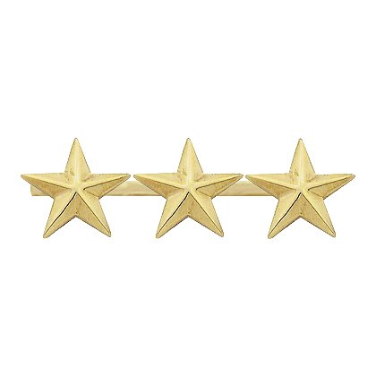 Smith & Warren Three Collar Stars on Bar, 2.34