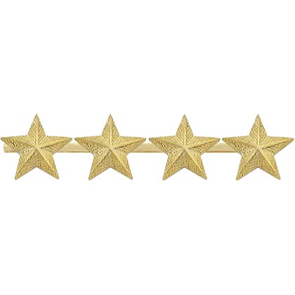 Smith & Warren Four Textured Collar Stars on Bar, 2.6