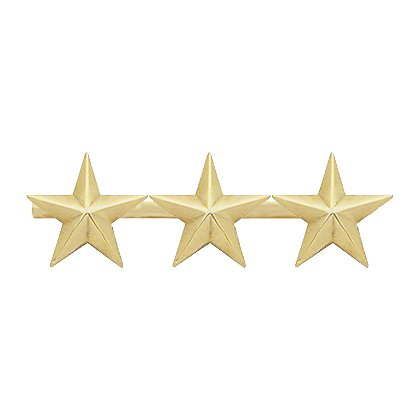 Smith & Warren: Three Collar Stars on Bar, 1.83