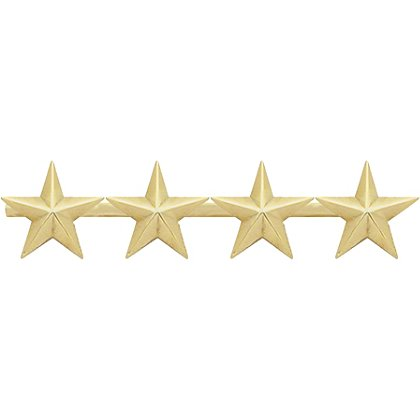 Smith & Warren Four Collar Stars on Bar, 2.44