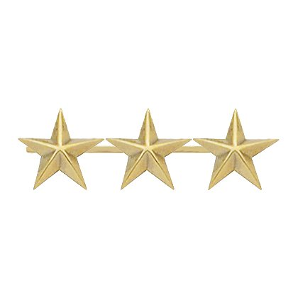 Smith & Warren: Three Collar Stars on Bar, 1.35