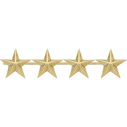 Smith & Warren: Four Collar Stars on Bar, 1.8