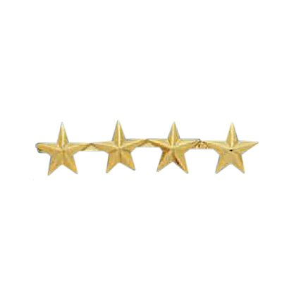 Smith & Warren Four Collar Stars on Bar, 1.52