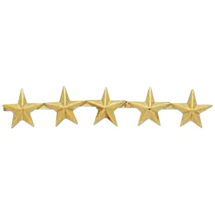 Smith & Warren Five Collar Stars on Bar, 1.9