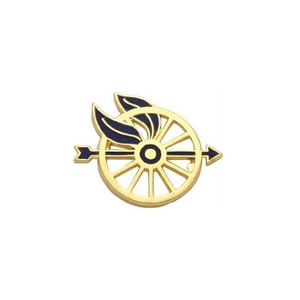 Smith & Warren: Pair of Wheel/Arrow Insignia, 1