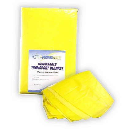 Primacare Disposable Yellow Foam Transport Blanket