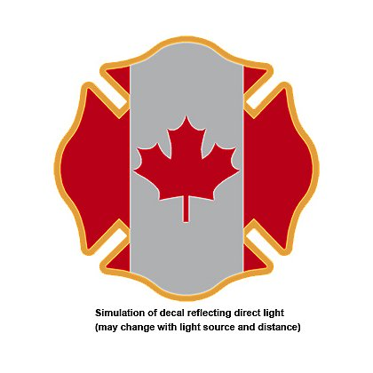 TheFireStore: Reflective Decal, Maltese Cross with Canadian Flag, 2