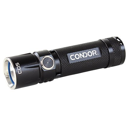 "Condor C05 EDC Flashlight, 1 AA Battery, 0.5-280 Lumens, 3.5"" Long"