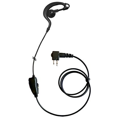 Code Red Beacon-M Soft Hook Lapel Microphone inline PTT for Motorola 2-pin radios