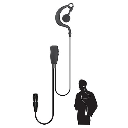Code Red: Watchman-QD 1-Wire Quick Release Microphone for 2-Way Motorola Radios