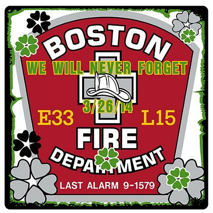 TheFireStore Boston Memorial Decal Last Alarm 03/26/14