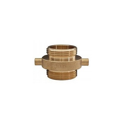Dixon: Double Male Adaptor Brass