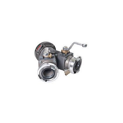 Dixon Aluminum 2-Way Ball Valve, Storz Inlet and Outlet