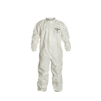 DUPONT™ TYCHEM® SL COVERALL, with Laydown Collar, Elastic Opening at Wrists and Ankles, 6 per case