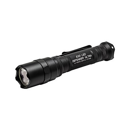 SureFire E2D Defender Ultra Dual Output LED Flashlight, 2 SF123A Batteries, 500 Lumens, 5.6