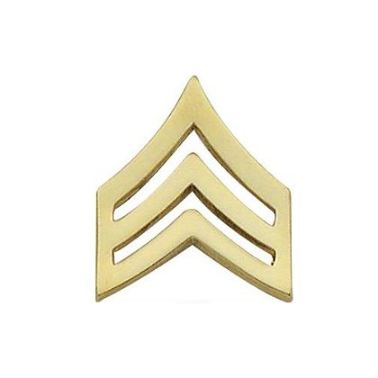 Smith & Warren Sergeant Chevron Collar Pin, 1