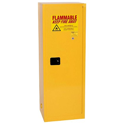 Eagle Manufacturing Flammable Liquid Storage Cabinet, Yellow, One Door, Three Shelves